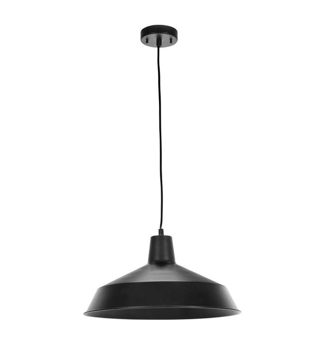 The Home Depot 1-Light Matte Black Barn Light Pendant