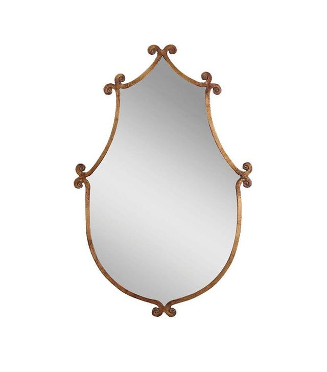 Global Direct Gold Metal Framed Mirror