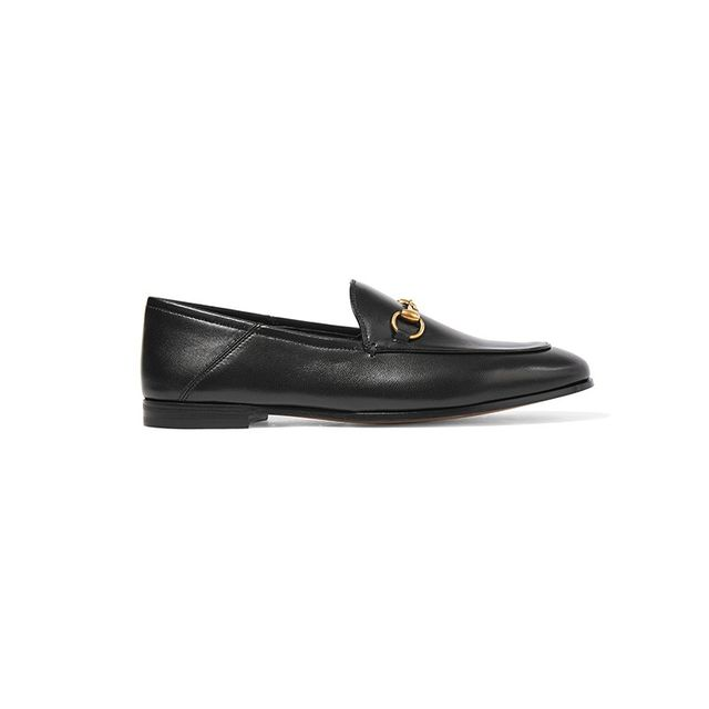 Gucci Horsebit-Detail Leather Loafers