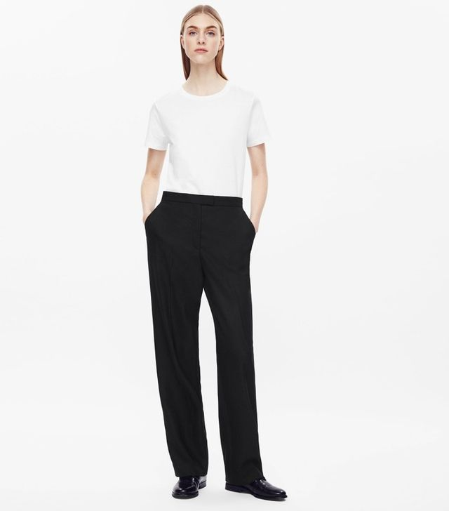 COS Press Folded Wide-Leg Trousers