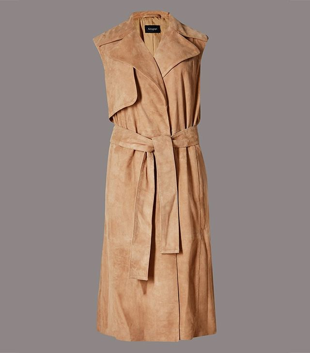 Autograph Suede Sleeveless Jacket