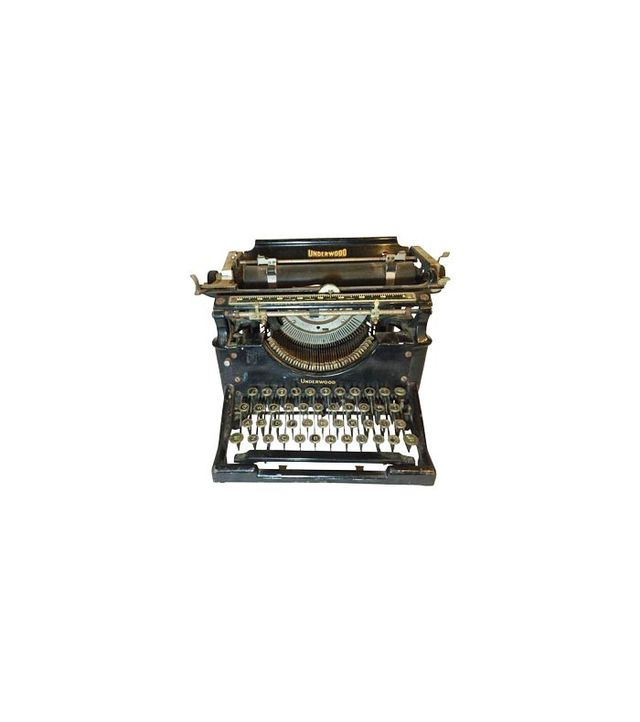 Chairish Antique 1908 Black Underwood Typewriter