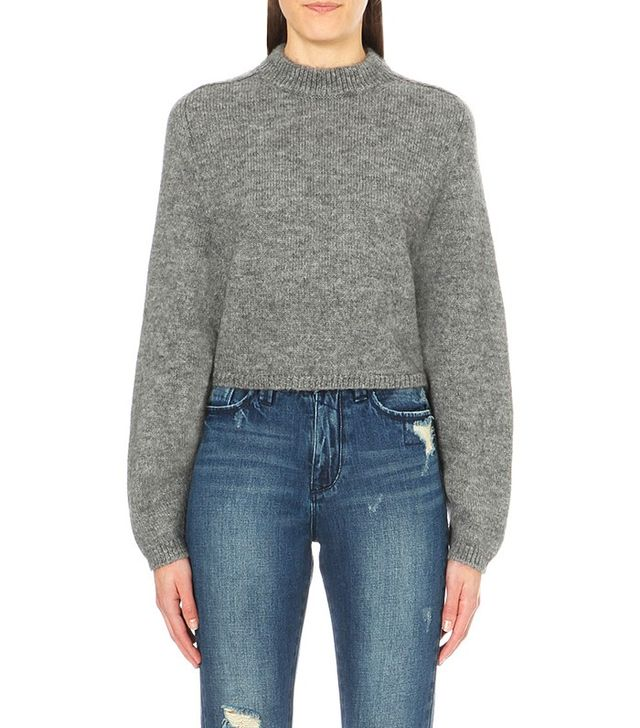 MO&CO Batwing Sleeve Cropped Jumper