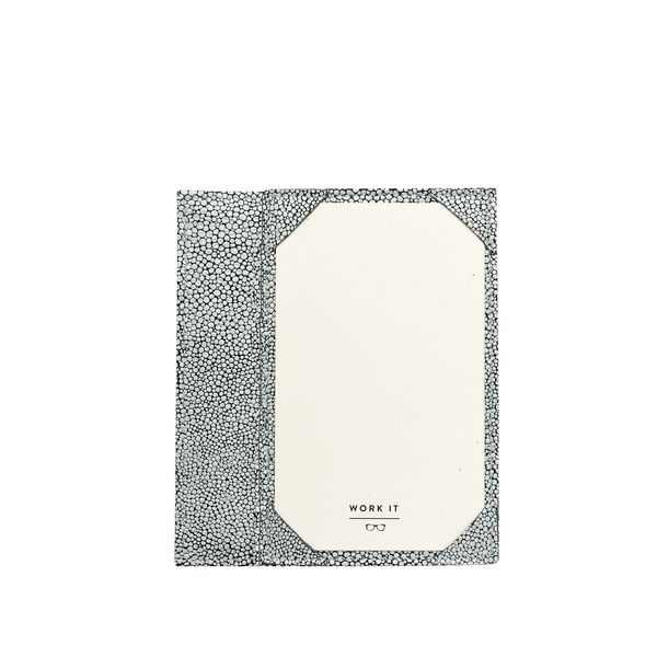 GiGi New York Whitestone Shagreen Leather Jotter