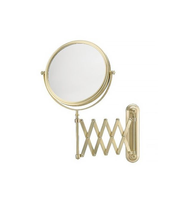 Target Mirror Image Extension Arm in Brushed Brass