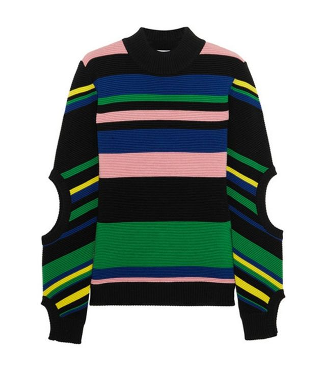 J.W.Anderson Striped Ribbed Merino Wool Turtleneck Sweater