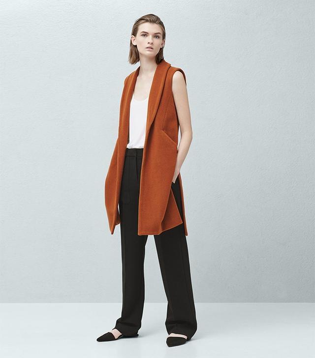 Mango Side-Pocket Wool-Blend Waistcoat