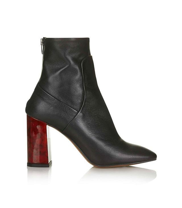 Topshop Master Tortoiseshell Heel Boots
