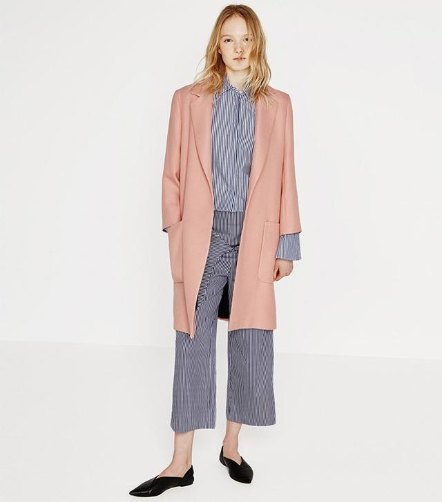 Zara Patch Pocket Coat