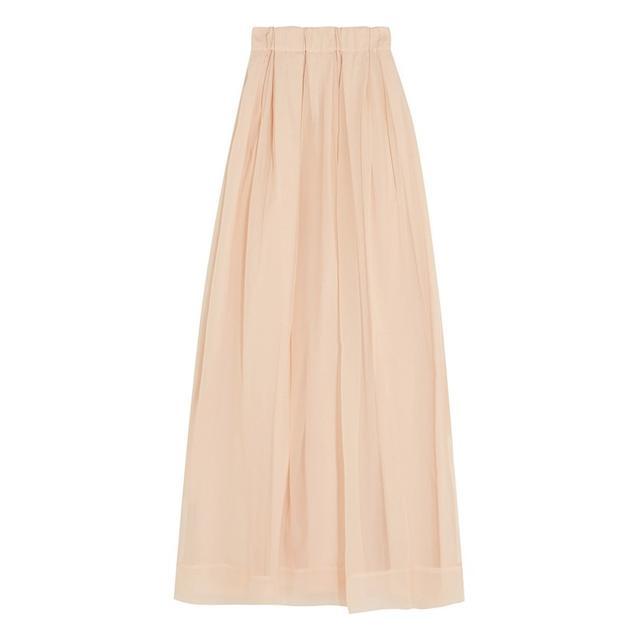 Brunello Pleated Georgette-Silk Skirt
