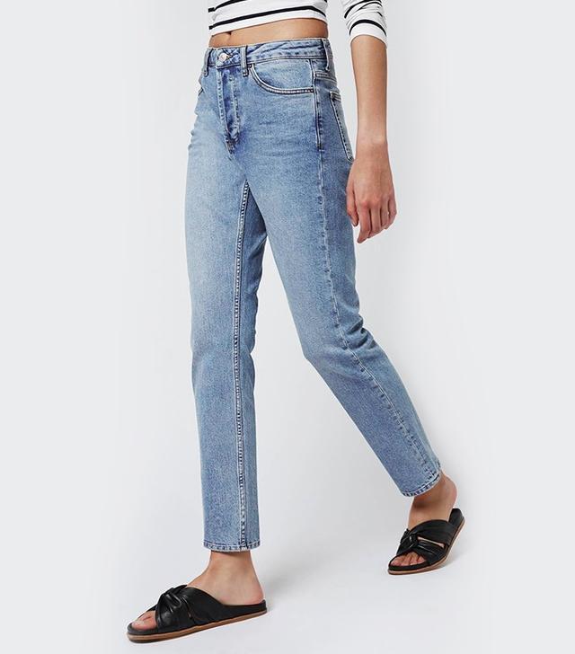 Topshop Moto Bleach Straight Leg Jeans