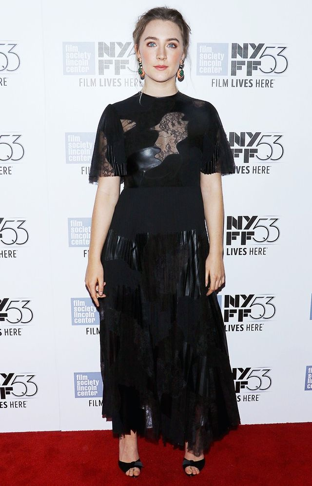 WHAT: 53rd New York Film Festival WEAR: Valentino dress; David Webb earrings.