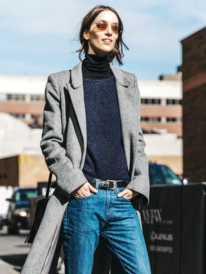 How Models Do the Cropped Denim Trend