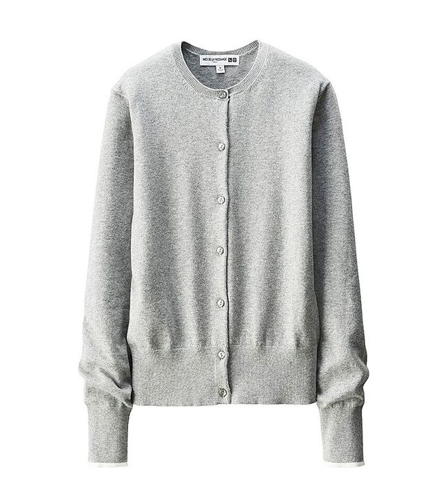 Inès de La Fressange for Uniqlo Cotton Cashmere Crewneck Cardigan
