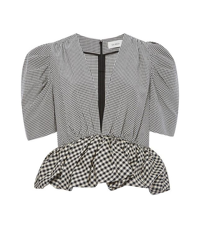 Isa Arfen Check Top With Peplum