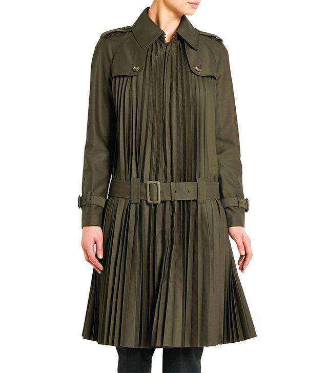 Junya Watanabe Pleated Twill Trench Coat