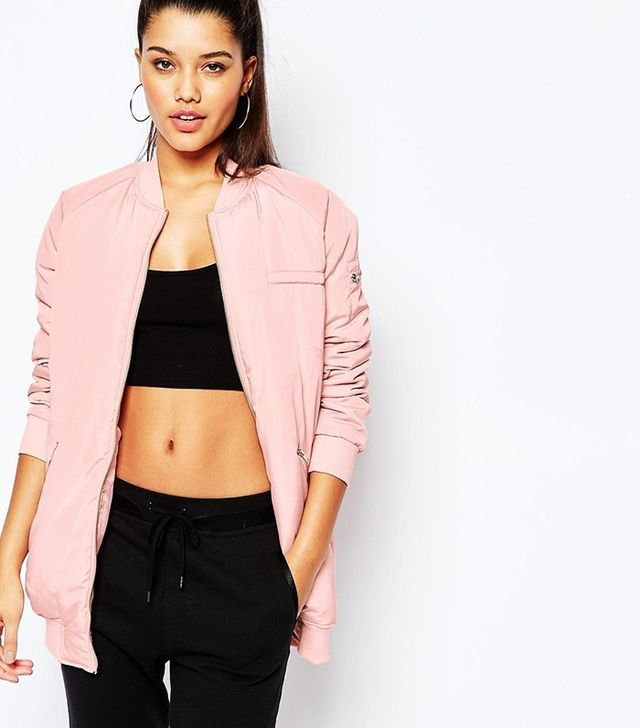 Miss Guided Longline Padded Bomber