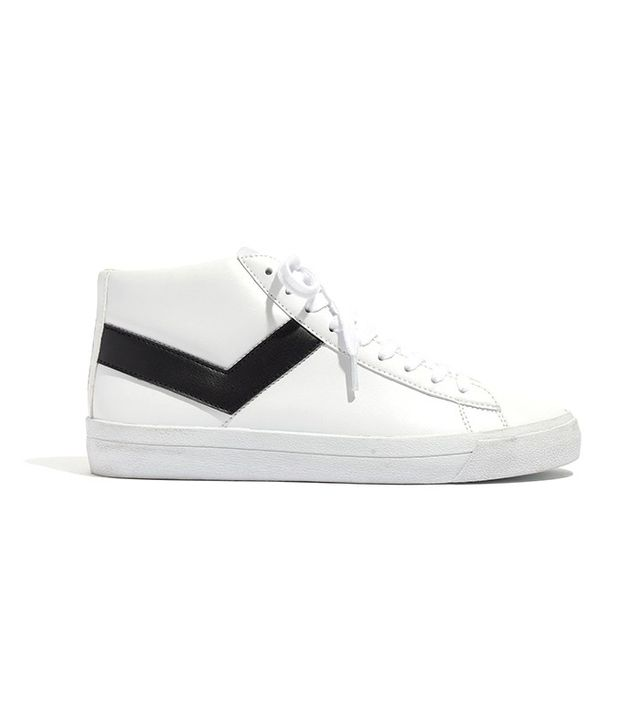 Pony Topstar Hi Leather High-Top Sneakers