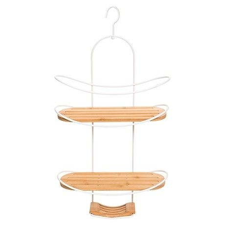 Freedom Monte Shower Caddy in White/Natural