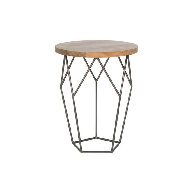 Freedom Aquarius Side Table 44cm in Natural/Graphite