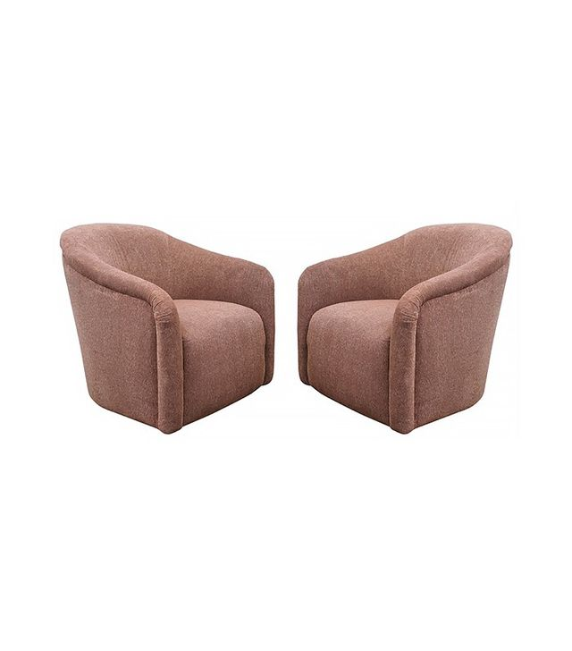 Milo Baughman 1970s Swivel Chairs, Pair