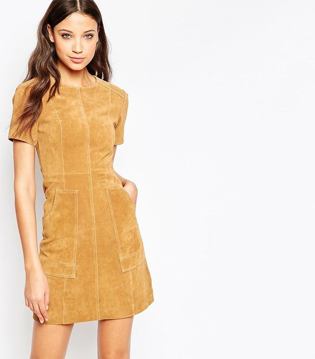 ASOS Suede Dress in A Line