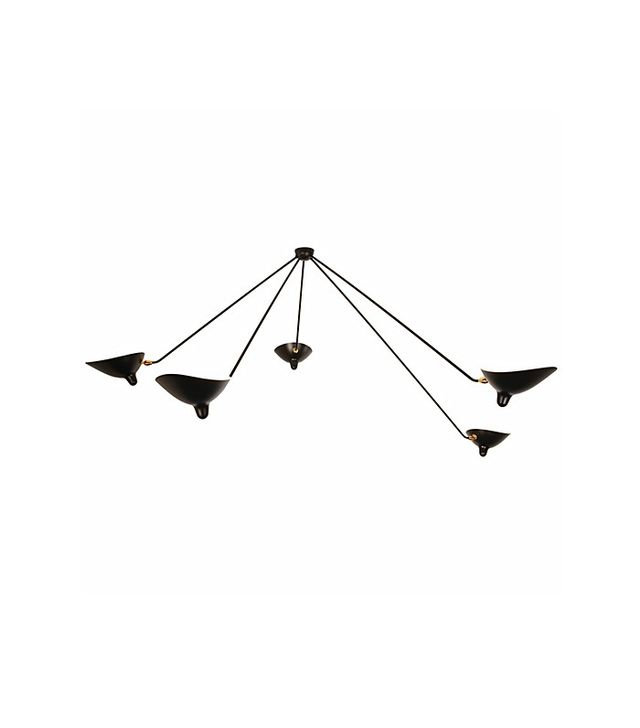 Serge Mouille 5-Arm Spider Ceiling Lamp