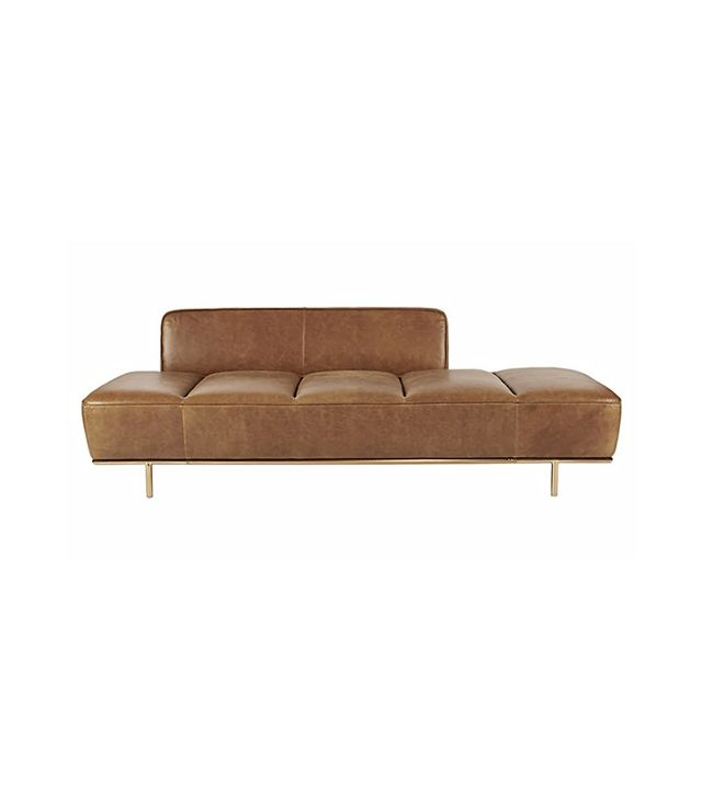 CB2 Lawndale Leather Daybed