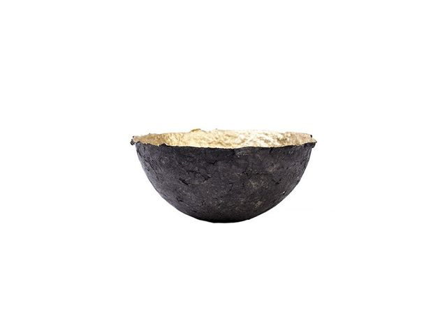 Dwell Studio Mini Charcoal and Gold Pulp Bowl