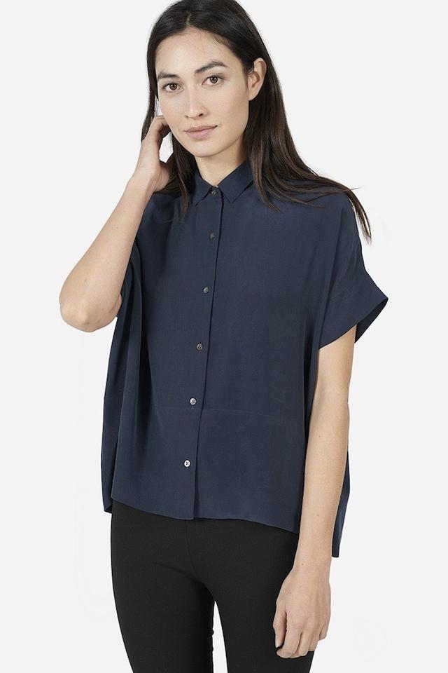 Everlane The Square Silk Shirt