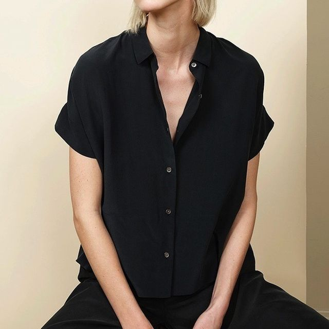 Everlane Just Released Its Ultra-Cool Square Silk Shirt