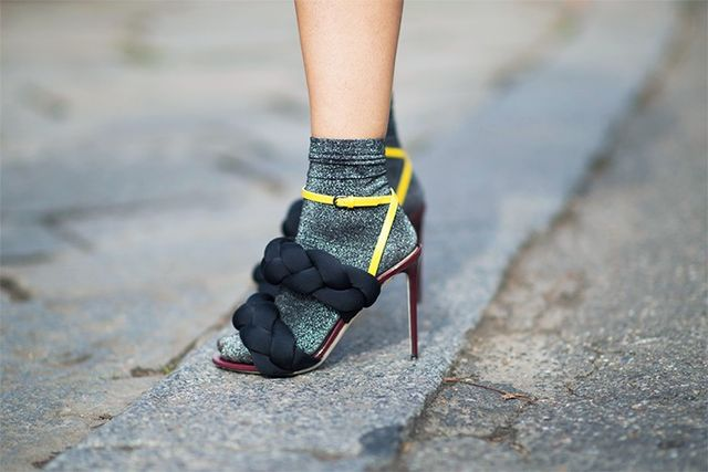 Re-Style #4: Wear glitter socks with everything—especially sandals.