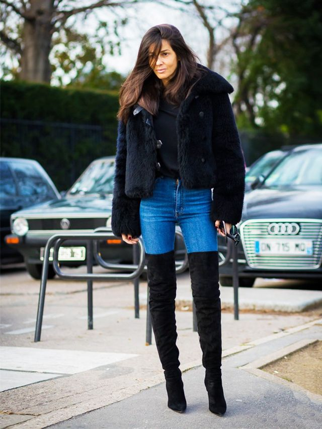 Re-Style #6: Layer OTK boots over true blue jeans.