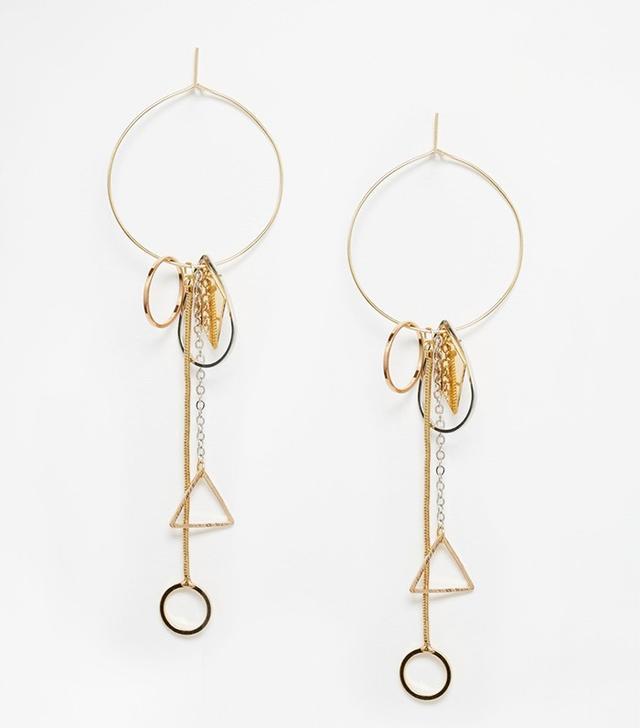 ASOS Interchangeable Trinket Hoop Earrings