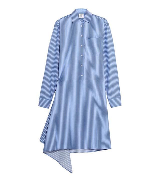 Vetements Pinstriped Poplin Shirt Dress