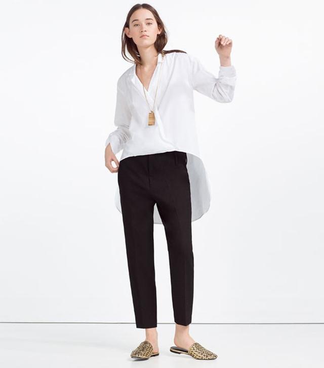 Zara Asymmetric Crossover Blouse