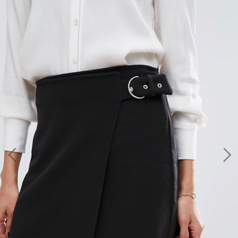 Wrap Front Buckle Skirt