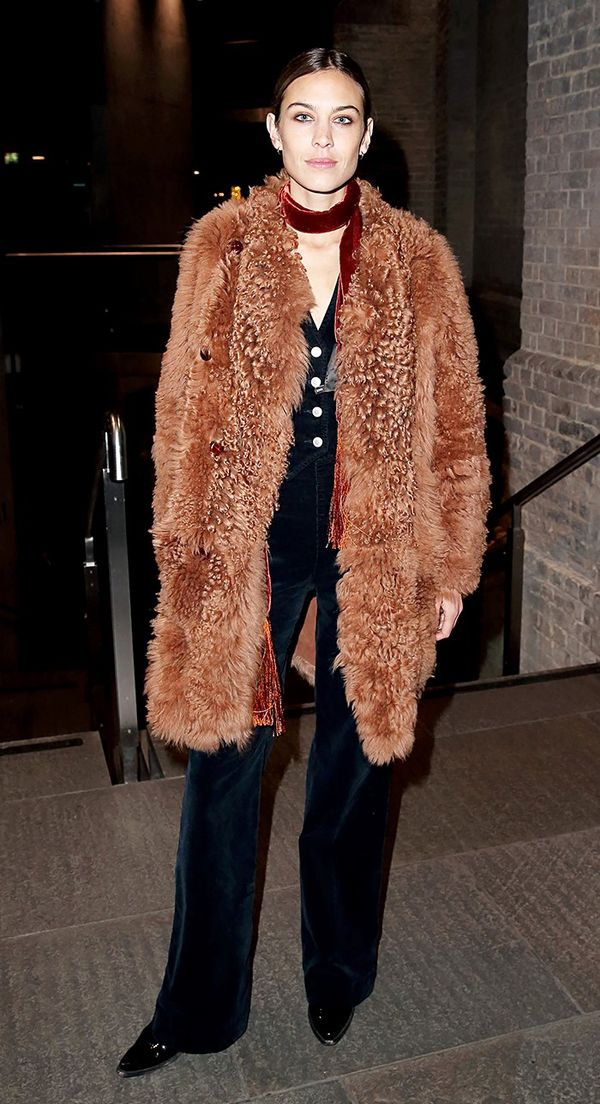 4. Textured Coat + Skinny Scarf + Loafers
