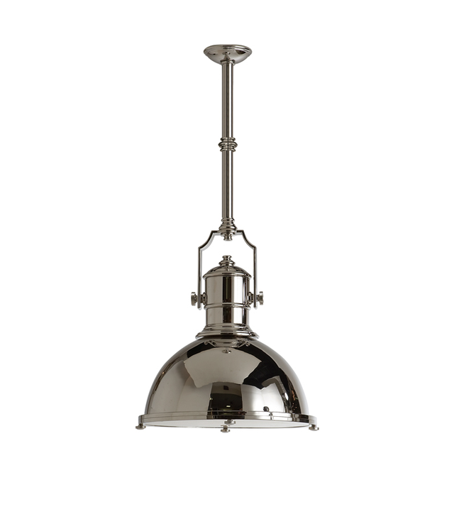 E.F. Chapman Country Industrial Large Pendant With Metal Shade