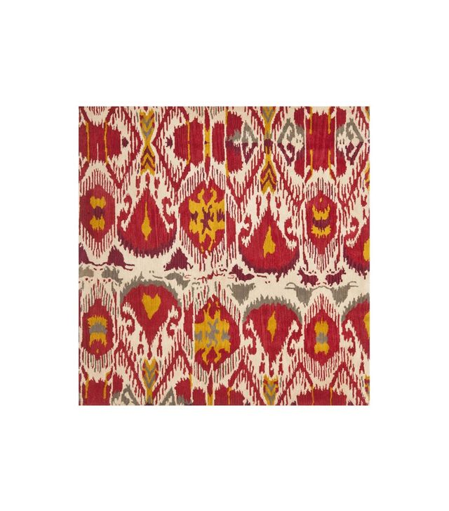 Safavieh Handmade Ikat Ivory/ Red Wool Rug