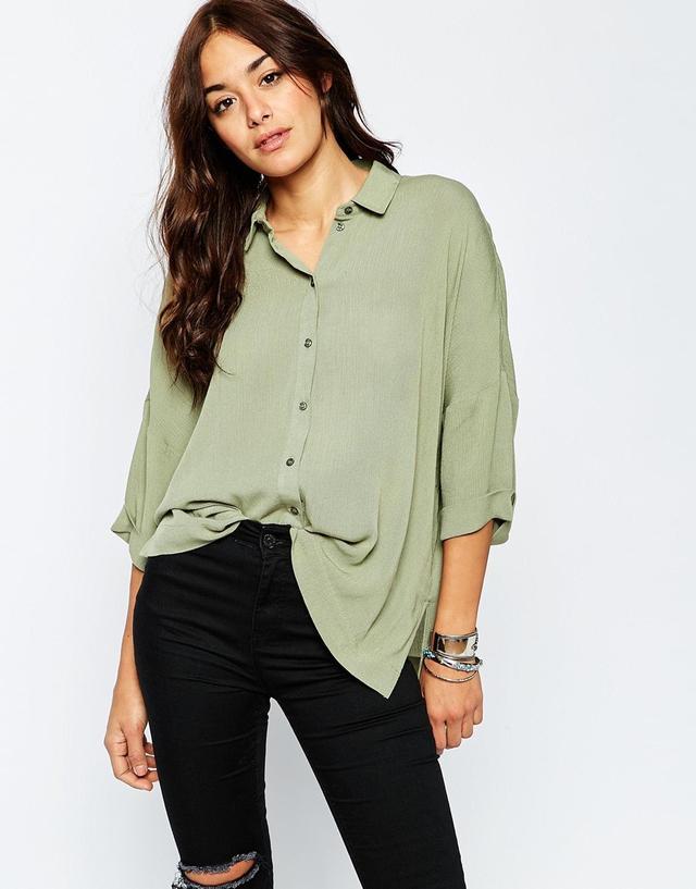 ASOS Oversized Crinkle Shirt