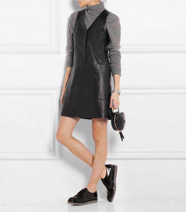 Acne Studios Chaplin Leather Mini Dress