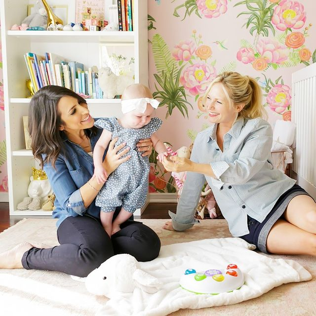 Tour a Glam Floral Nursery by Emily Henderson