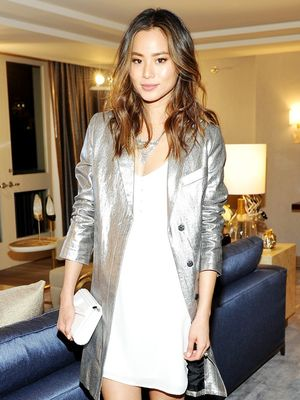 Jamie Chung Gives Us a Metallic Outfit You Can Actually Wear IRL