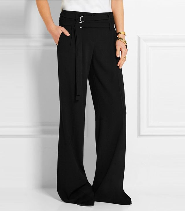 Michael Kors Collection Pleated Wool Wide-Leg Pants