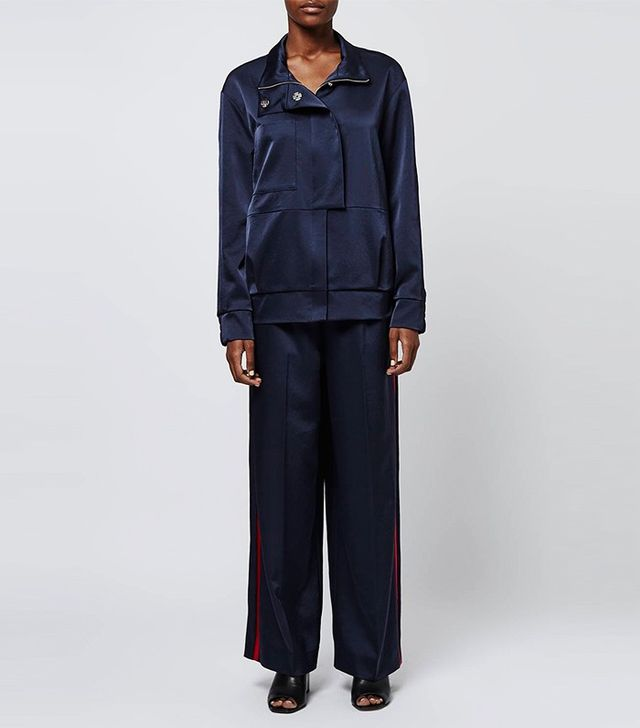 Boutique Stripe Tracksuit Bomber Jacket and Trousers