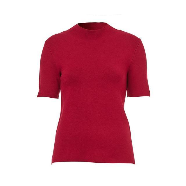 Sportsgirl High Neck Short Sleeve Knit