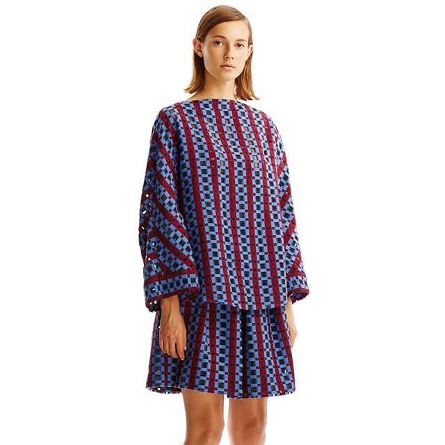 Scanlan Theodore Check Weave Top
