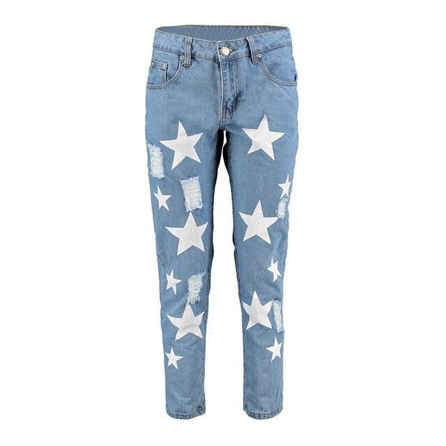 Boohoo Emily Star Print Jeans
