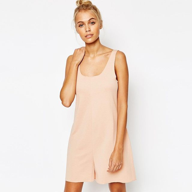 ASOS Relaxed Nude Playsuit